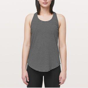 Lululemon Love tank pleated in striped prints